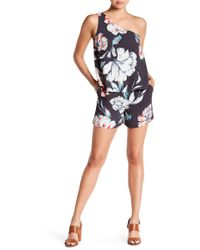 4f32d90f088 Lyst - 1.State V-neck Flat Front Romper in White