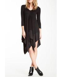 Gracia - 3/4 Length Sleeve Handkerchief Hem Dress - Lyst
