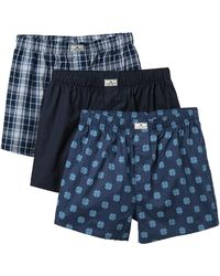 Lucky Brand Woven Cotton Boxers - Pack Of 3
