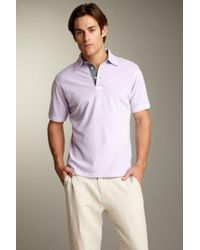 Report - Solid Colored Polo - Lyst