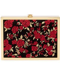 Alice + Olivia - Darla Velvet Floral Embroidered Box Clutch - Lyst