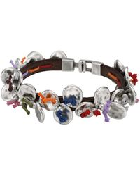 Uno De 50 - I Found It Sweeping Disc Accented Leather Bracelet - Lyst