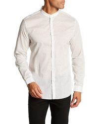 John Varvatos - Cross Long Sleeve Slim Fit Shirt - Lyst