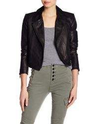 J Brand | Aiah Lamb Leather Jacket | Lyst