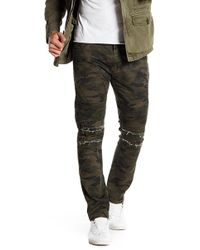 """Xray Jeans - Camo Print Ribbed Standard Fit Jeans - 30-32"""" Inseam - Lyst"""