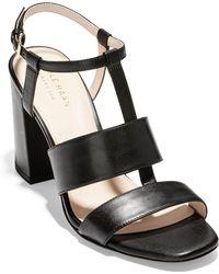 ad17ccda3d2 Lyst - Cole Haan Thandie Grand Ii Wedge Sandals in Black