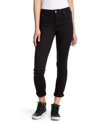 Tractr | High Waisted Frayed Hem Skinny Jeans | Lyst