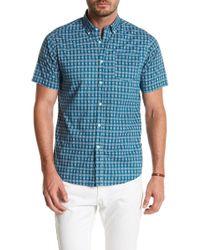Indigo Star - Spalding Short Sleeve Print Tailored Fit Shirt - Lyst