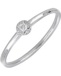 Bony Levy - 18k White Gold Diamond Solitaire Ring - 0.03 Ctw - Lyst