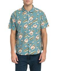 RVCA - Pelletier Tropic Short Sleeve Shirt - Lyst