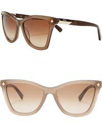 0e9aff702f1d5 MCM Women s Cat Eye 52mm Acetate Frame Sunglasses - Lyst