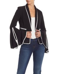 Do+Be Collection - Angel Sleeve Piped Trim Blazer - Lyst