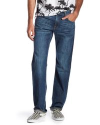 7 For All Mankind - Carsen Straight Leg Jeans - Lyst