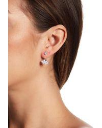 c.A.K.e. By Ali Khan - Swarovski Crystal Round Stone Earrings - Lyst
