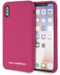 Karl Lagerfeld - Fuchsia Silicone Iphone X/xs Case - Lyst