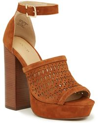 Joe's Jeans - Lorne Perforated Platform Sandal - Lyst