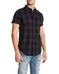 Ezekiel - Ortiz Check Short Sleeve Regular Fit Shirt - Lyst