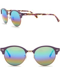 Ray-Ban - 51mm Icons Clubround Phantos Sunglasses - Lyst