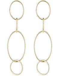 f2981c20303d1 18k Gold Plated Sterling Silver Drop Links Earrings