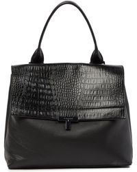 T Tahari - Reset T-shopper Snake Embossed Leather Satchel - Lyst