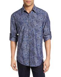 James Campbell - Regular Fit Floral Print Sport Shirt - Lyst