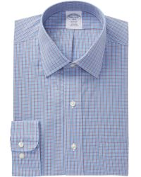 Brooks Brothers - Check Regent Modern Trim Fit Dress Shirt - Lyst