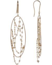 Lana Jewelry - 14k Yellow Gold Long Thin Oval Earrings - Lyst