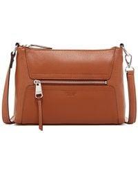 Perlina - Mona Leather Zip Top Convertible Crossbody - Lyst