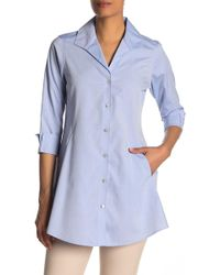 Foxcroft - Cecelia 3/4 Length Sleeve Tunic - Lyst