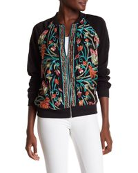 West Kei - Mesh Embroidery Bomber Jacket - Lyst