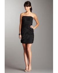 Max & Cleo - Ruched Strapless Dress - Lyst