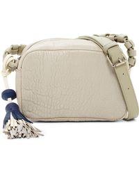 Christopher Kon - Pebbled Tassel Leather Crossbody Bag - Lyst