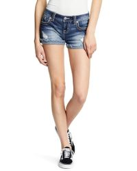 Miss Me - Distressed Signature Shorts - Lyst