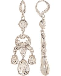 Givenchy - Prong Set Multi Cut Glass Crystal Chandelier Earrings - Lyst