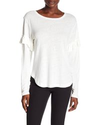 Rebecca Minkoff - Laurel Ruffled Long Sleeve Tee - Lyst