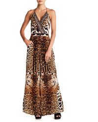 Shahida Parides - Palazzo Patterned Silk Jumpsuit - Lyst