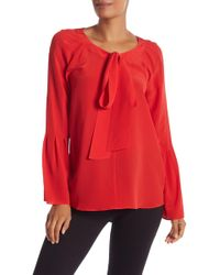 Chelsea and Walker - Tie Up Blouse - Lyst