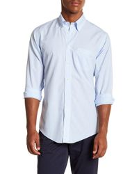 Brooks Brothers - Mini Stripe Long Sleeve Sport Fit Shirt - Lyst