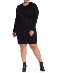 Derek Heart - Studded Bodycon Sweater Dress - Lyst
