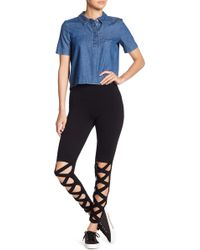 Lush - Front Crisscross Leggings - Lyst