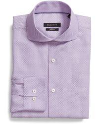 Bugatchi - Shaped Fit Geometric Dress Shirt - Lyst