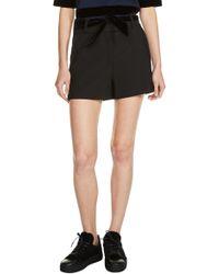 Maje | Velvet Tie Shorts | Lyst