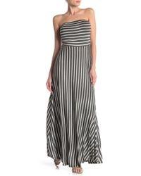 e35a1e2c5c2 Lyst - West Kei Strapless Stripe Maxi Dress in Blue