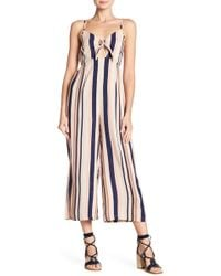 Angie - Striped Jumpsuit - Lyst