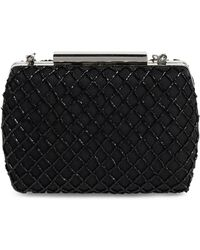 Glint - Lattice Beaded Minaudiere - Metallic - Lyst