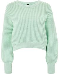 TOPSHOP - Fisherman Crew Neck Jumper By Boutique - Lyst