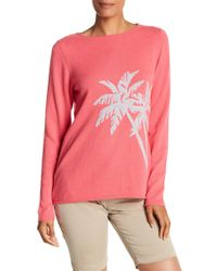 Tommy Bahama - Island Cashmere Palm Print Sweater - Lyst