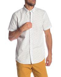 Ben Sherman - Shadow Spot Print Short Sleeve Shirt - Lyst