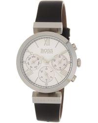 BOSS - Women's Classic Sport Leather Strap Watch, 34mm - Lyst