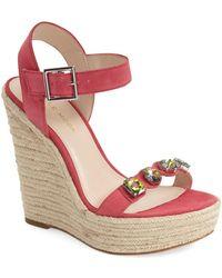 Pelle Moda - 'olea' Wedge Sandal (women) - Lyst